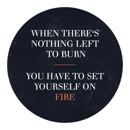 how to set yourself on fire book